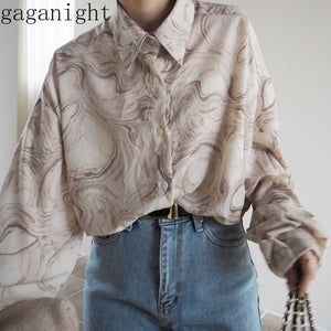 Gaganight Fashion Women Blouse Long Sleeve Turn Down Single Breasted Korean Chic Shirt Female Vintage Blouses Spring Blusas 2020