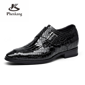 Genuine cow leather brogue Wedding increase shoes mens casual flats shoes vintage oxford shoes for men black red spring 2020