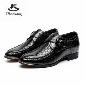 Genuine cow leather increase brogue business Wedding men shoes casual flats shoes vintage sneaker oxford shoes 2020