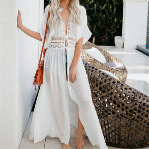 Tunics for Beach Swimsuit Cover up Women Swimwear Long Kaftan Beach Cover up Beachwear Pareo Beach Dress Saida de Praia #Q528