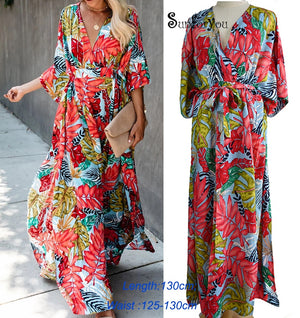 Plus size Cotton Beach Maxi Dress Cover up Bathing suit Cover ups Salida de Playa 2020 Kaftan Beach Swimwear Cover up Playeros