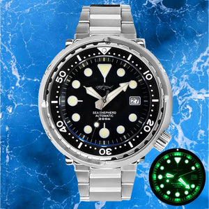 HEIMDALLR Automatic Mechanical Watch Dive 200m NH35 Sapphire Crystal Men Watch Mechanical C3 Super Luminous Ceramic Bezel Watch