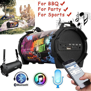 SL-10 Outdoor Portable Column Subwoofer Bluetooth Speaker Wireless Powerful Sports Speakers Radio FM Mp3 player Scalable