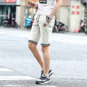 2020 new summer men shorts cotton beach shorts elastic waist casual shorts drop shipping ABZ319