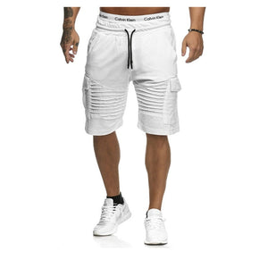 Summer Cargo Shorts Men 2020 Casual Trunks Fitness Workout Beach Shorts Man Breathable Cotton Gym Short Trousers Stripe Shorts