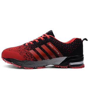 Hot Selling Spring Plus-sized MEN'S SHOES Breathable COUPLE'S Shoes Mesh Athletic Shoes Fly Line Running Shoes 35-47