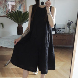 LANMREM 2020 new summer korean styles fashion women clothes V-neck lace up backless calf length jumpsuit female WL24403XL