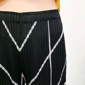 LANMREM Pleated wide-leg pants famale 2020 summer new loose large size straight pants fashion straight tide casual pants YJ759