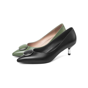 MORAZORA plus size 34-45 2020 new fashion women pumps stiletto heels pointed toe dress shoes genuine leather shoes woman