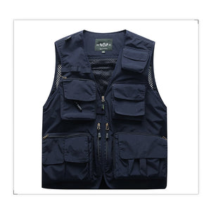 Men Unloading Tactical Vest Coat Fashion Men's Summer Photographer Waistcoat Mesh Work Sleeveless Jacket Tool Many Pocket Vest