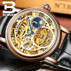 Mens Business Watches Top Brand Luxury Watches Relogio Masculino BINGER  Automatic Watches For Men Mechanical Clock B-1171