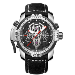 Reef Tiger/RT Top Brand Luxury Sport Automatic Stainless Steel Men Casual Fashion Leather Mechanical Waterproof Watches RGA3591