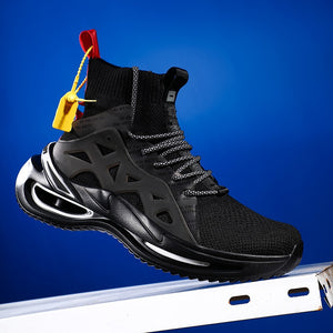 Vip Link New Technology Bow Sole Sneakers Flying Weaving Men Sock Shoes High-Top Fashion Casual Male Footwear 2020 New Arrivals