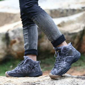 Winter Warm Boots for Men Women Fashion Plush Snow Boots Outdoor Non Slip Camping Shoes Size 36-46