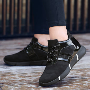 Women Fashion Shoes Woman Breathable Lace up Sneakers women High Increasing Casual Shoes Outdoor Non-slip Sneakers zapatillas