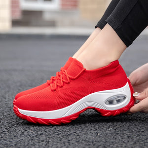 Women Sneakers Woman Platform Shoes Woman Lady Flat Casual Shallow Ballet Shoes Slip On Comfort Fabric Breathable Shoes