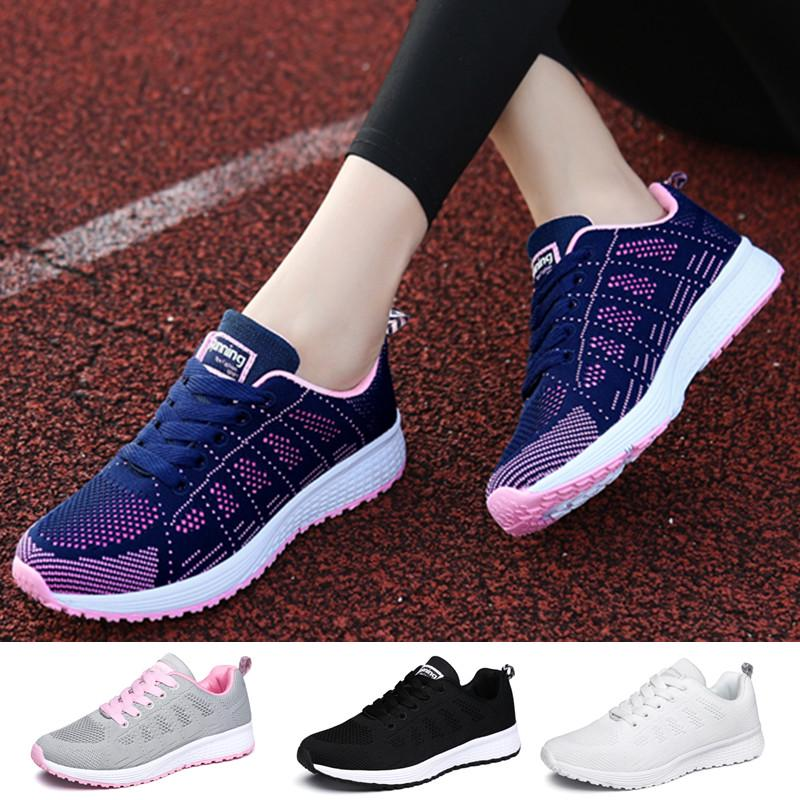 Women's Men's Fashion Casual Lightweight Breathable Soft Lace Up Sport Running Shoes sneakers women