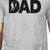 Dad Fish Mens Gray Tee Shirt Funny Design Top for Fishing Lovers