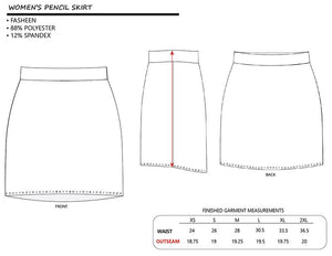 Pencil Skirt with Drum Set Pattern - Gala+