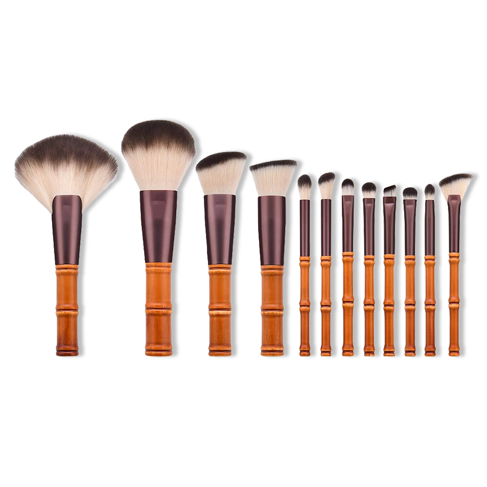 Set 12 Pennelli in Bamboo per il Make-up - Bamboo Green Store