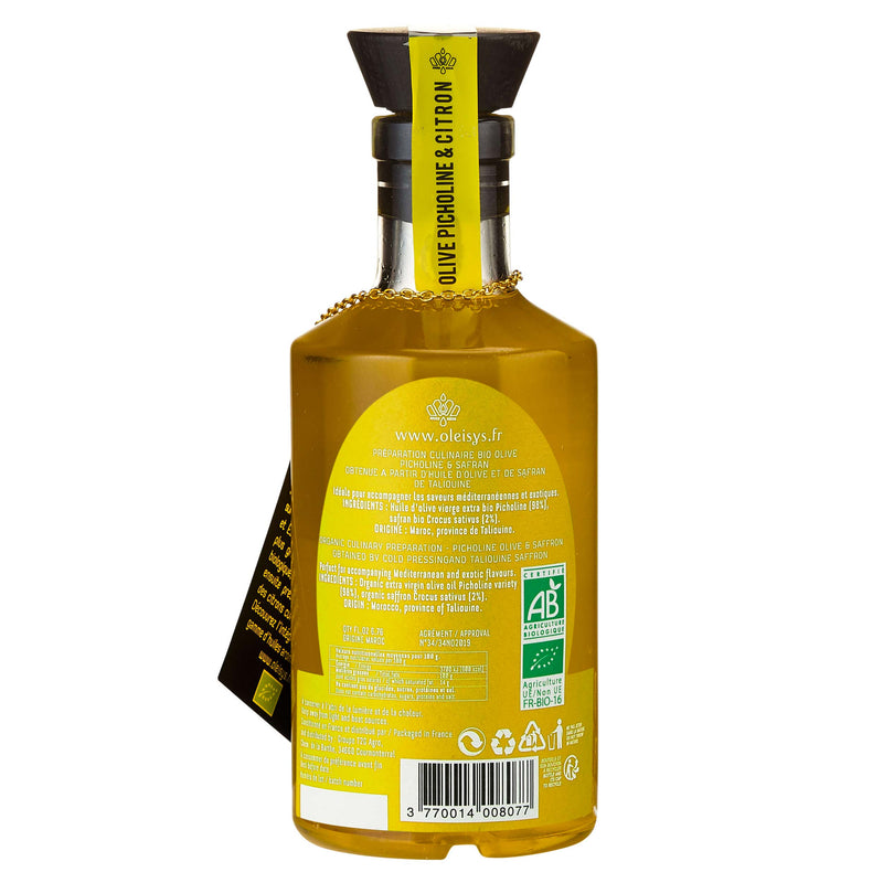 Huile d'olive culinaire olive picholine & citron Oleisys®