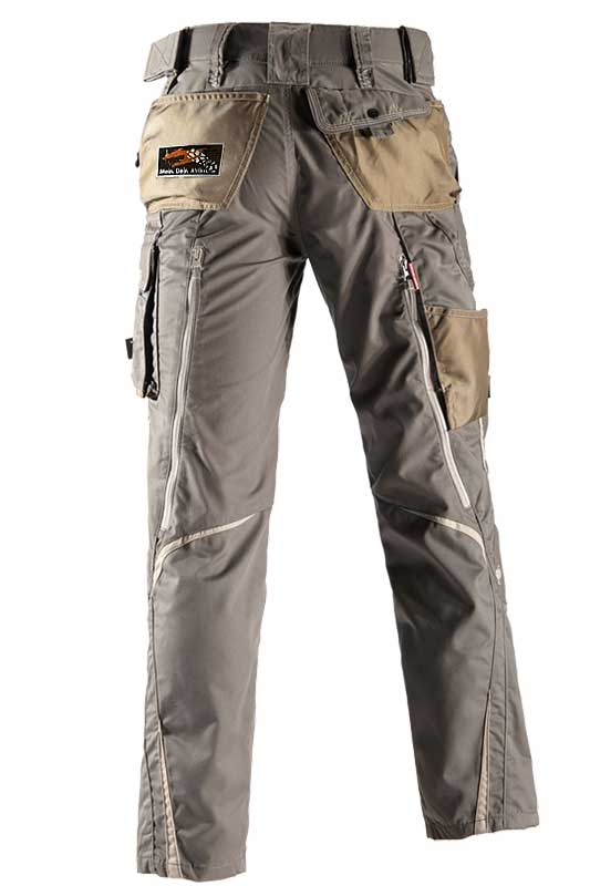 Bundhose e.s.motion Sommer – Venter Tours Edition in stein/khaki/sand, von hinten