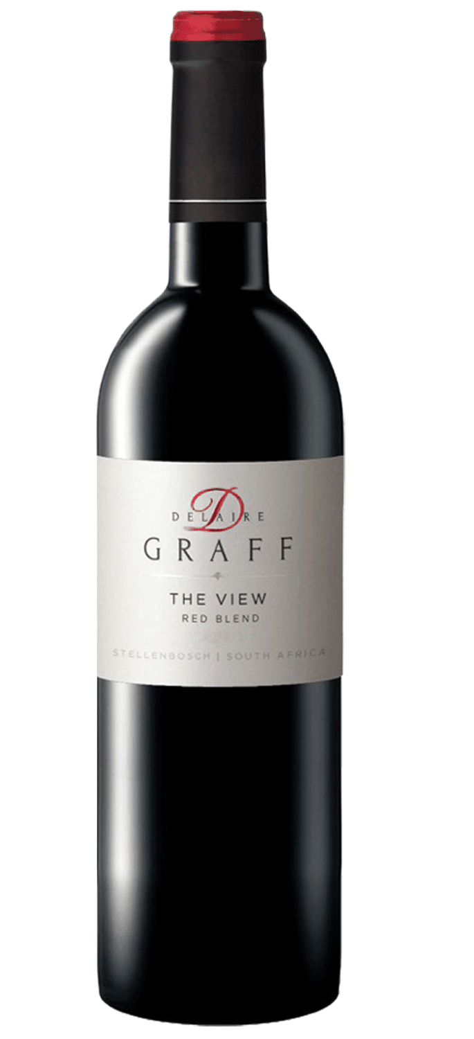 Rotweinflasche von Delaire Graff - Sorte The View Red Blend 2018