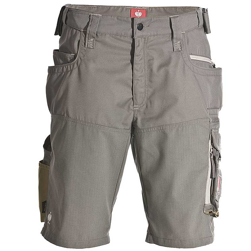 Short e.s.motion Sommer – Venter Tours Edition in khaki, von vorne