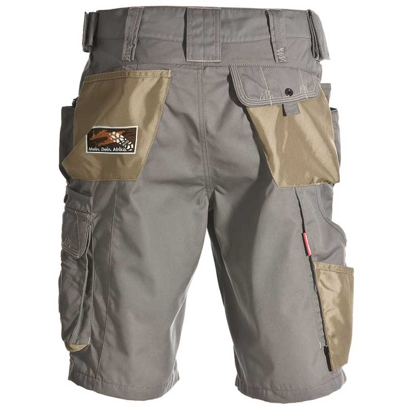 Short e.s.motion Sommer – Venter Tours Edition in khaki, von hinten