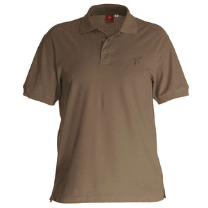 e.s. Polo-Shirt cotton – Venter Tours Edition in lehm von vorne