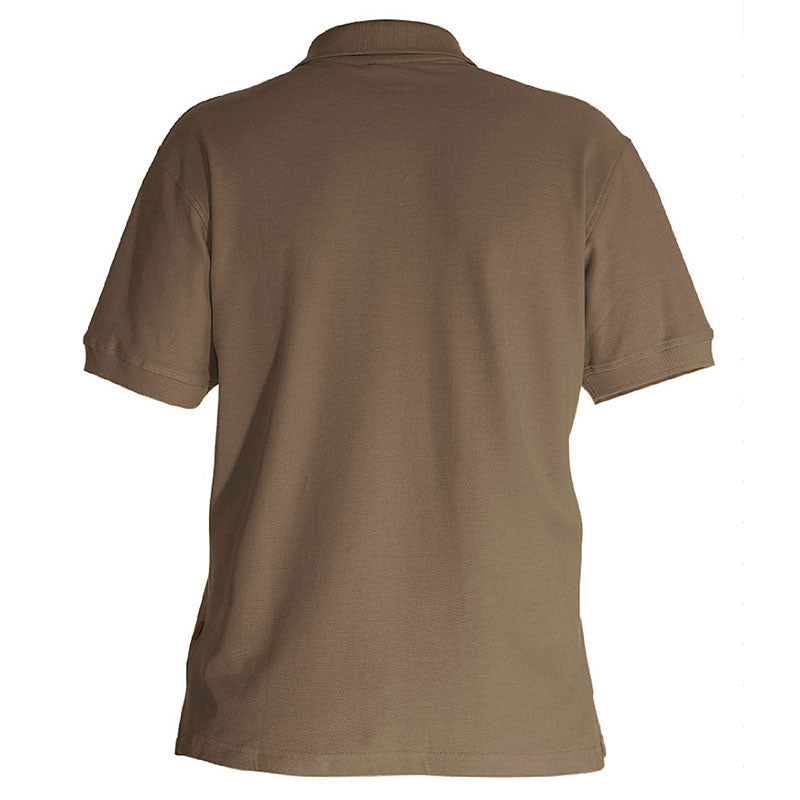 e.s. Polo-Shirt cotton – Venter Tours Edition in lehm von hinten