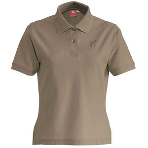 e.s. Polo-Shirt cotton – Venter Tours Edition in lehm, von vorne