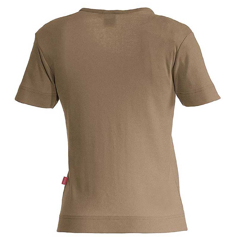 e.s. T-Shirt cotton V-Neck – Venter Tours Edition in lehm, von hinten