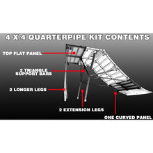 Load image into Gallery viewer, Freshpark QUARTERPIPE 4 FOOT EXTENSION KIT