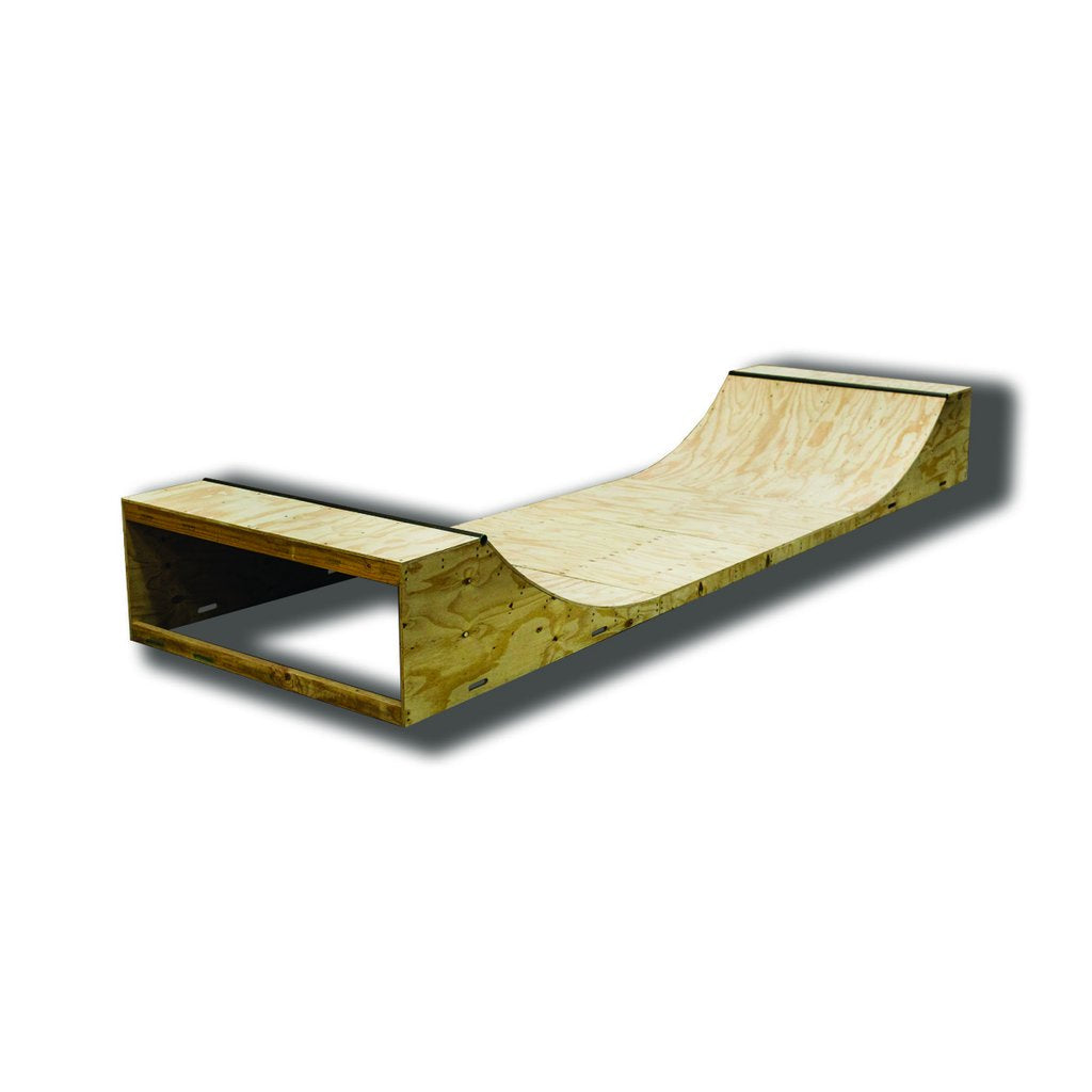 Timber Ramp Line 3  Foot Half Pipe