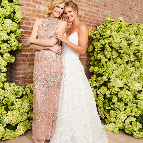 Rose Gold Mother of the Bride and Groom Dresses