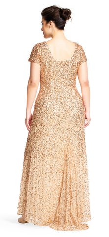 Scoopback Sequin Gown