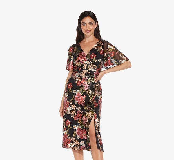 Midi dress for winter cocktail parties