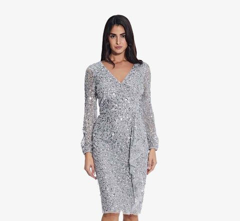 Mother of the bride sequin sheath dress