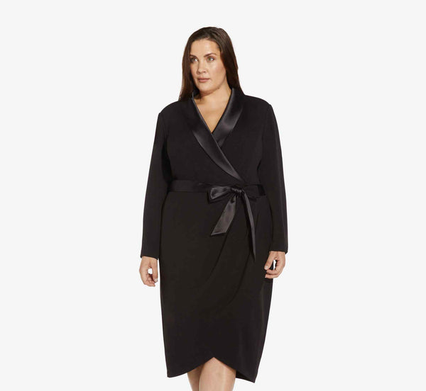 Tuxedo dress for winter cocktail parties