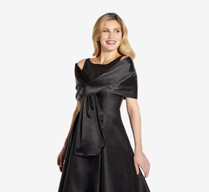 Charmuese Wrap In Black