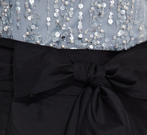 Taffeta High Low Ball Skirt In Black