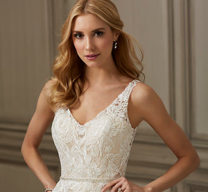 Ember Ballgown-Inspired Platinum Wedding Gown In Ivory Lt Gold