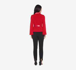 Long Sleeve Tuxedo Shirt In Cardinal