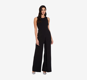 Sleeveless Asymmetrical Jumpsuit In Black