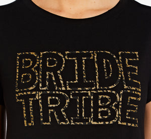 Bride Tribe T-Shirt Dress In Black