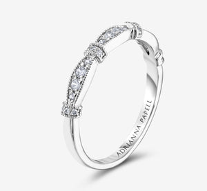 Adrianna Papell Diamond Anniversary Band 1/5 Ct Tw 14K White Gold In White Gold