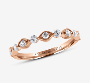 Adrianna Papell Diamond Anniversary Band 1/3 Ct Tw 14K Rose Gold In Rose Gold