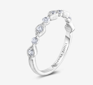 Adrianna Papell Diamond Anniversary Band 1/3 Ct Tw 14K White Gold In White Gold