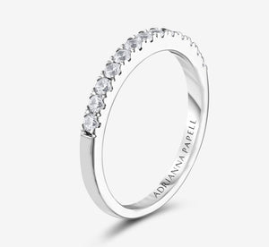 Adrianna Papell Diamond Wedding Band 3/8 Ct Tw 14K White Gold In White Gold
